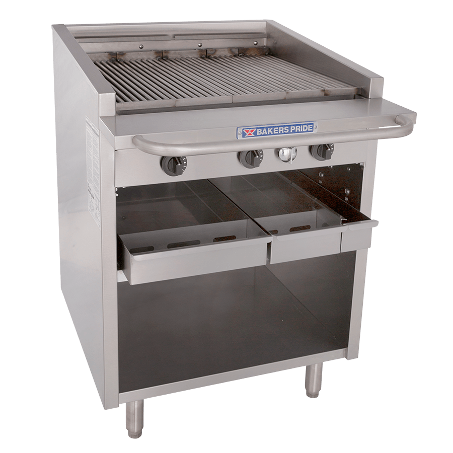 F-R Dante Series Cabinet-Style Floor Model Commercial Gas Charbroilers : F-30R