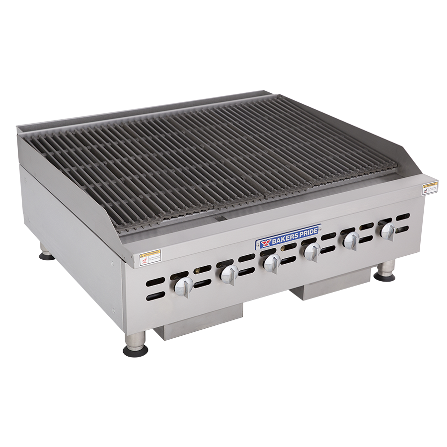 BPHCB & BPHCRB Cookline Series Heavy-Duty, Commercial Gas Countertop Charbroilers : BPHCRB-2436i