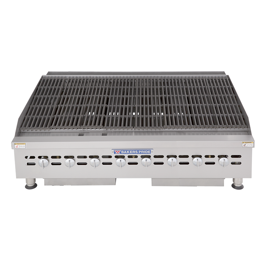 BPHCB & BPHCRB Cookline Series Heavy-Duty, Commercial Gas Countertop Charbroilers : BPHCB-2448i